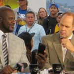Shaquille O'Neal and Ernie Johnson on TNT