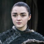 Maisie Wiliams as arya on Game of Thrones HBO