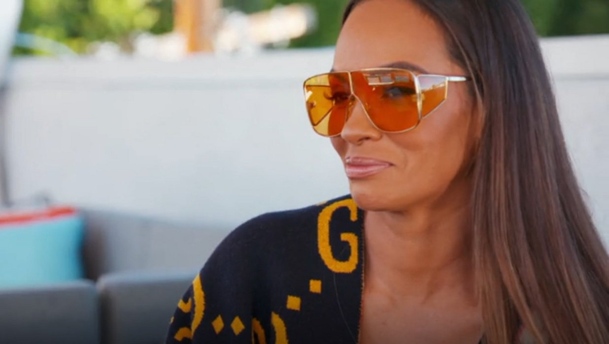 Basketball Wives' Evelyn Lozada Spreads Out In See-Thru Swimsuit