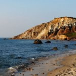 martha's vineyard coast where Jackie O's mansion is