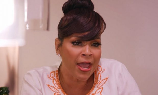 LisaRaye McCoy yelling on Growing Up Hip Hop Atlanta on WE tv