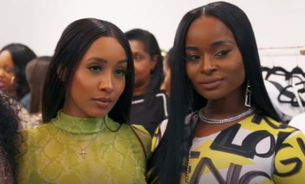 basketball wives dominique flaunts 5� stilettos with gold