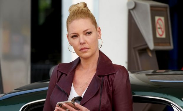 """SUITS -- """"Scenic Route"""" Episode 907 -- Pictured: Katherine Heigl as Samantha Wheeler -- (Photo by: Ian Watson/USA Network)"""