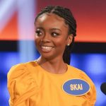 "CELEBRITY FAMILY FEUD -""Terry Bradshaw vs. Adam Rippon and Skai Jackson vs. Hudson Yang"" - Pittsburgh Steelers' Hall of Fame quarterback, two-time Super Bowl MVP and television personality Terry Bradshaw takes on Olympic figure skating medalist and champion of ""Dancing with the Stars: Athletes,"" Adam Rippon, as they compete to win cash for their charities. The next game of the night features Disney Channel star of ""BUNK'D"" and ""Jessie,"" Skai Jackson, looking to upset ABC's ""Fresh Off the Boat"" star Hudson Yang on a star-studded episode of ""Celebrity Family Feud,"" airing SUNDAY, SEPT. 15 (8:00-9:00 p.m. EDT), on ABC. (ABC/Byron Cohen) KIYA COLE, SKAI JACKSON"