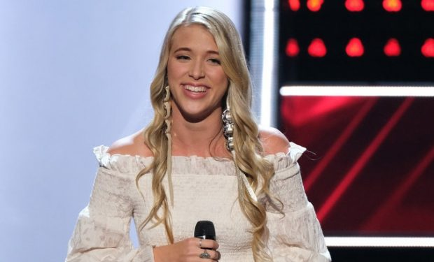 "THE VOICE -- ""Blind Auditions"" Episode 1701 -- Pictured: Brennan Lassiter -- (Photo by: Justin Lubin/NBC)"