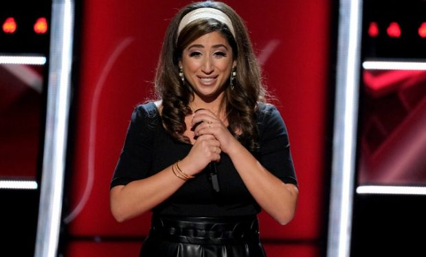 "THE VOICE -- ""Blind Auditions"" Episode 1702 -- Pictured: Elise Azkoul -- (Photo by: Justin Lubin/NBC)"