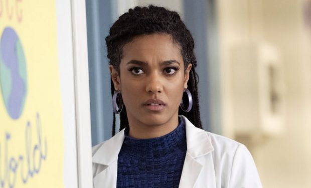"NEW AMSTERDAM -- ""The Blues"" Episode 113 -- Pictured: Freema Agyeman as Dr. Helen Sharpe -- (Photo by: Peter Kramer/NBC)"