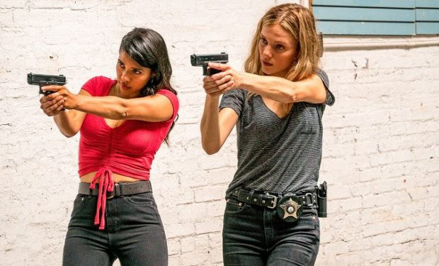 "CHICAGO P.D. -- ""Assets"" Episode 702 -- Pictured: (l-r) Lizeth Chavez as Vanessa Rojas, Tracy Spiridakos as Det Hailey Upton -- (Photo by: Matt Dinerstein/NBC)"