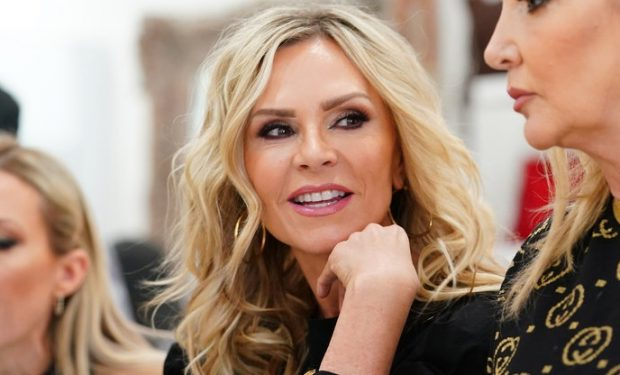 """THE REAL HOUSEWIVES OF ORANGE COUNTY -- """"Breakdown in Beverly Hills"""" Episode 1404 -- Pictured: (l-r) Tamra Judge, Shannon Storms Beador -- (Photo by: Nicole Weingart/Bravo)"""