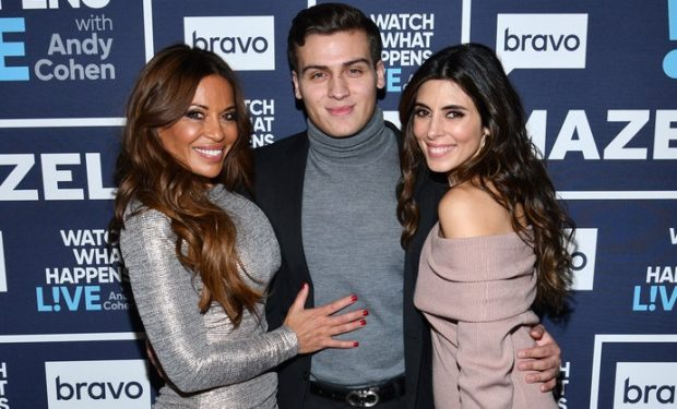 WATCH WHAT HAPPENS LIVE WITH ANDY COHEN -- Episode 16202-- Pictured: (l-r) Dolores Catania, Frankie Catania, Jamie-Lynn Sigler -- (Photo by: Charles Sykes/Bravo)