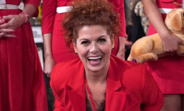 "WILL & GRACE -- ""Performance Anxiety"" Episode 307 -- Pictured: Debra Messing as Grace Adler -- (Photo by: Chris Haston/NBC)"