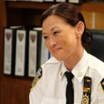"BROOKLYN NINE-NINE -- ""Captain Kim"" Episode 702 -- Pictured: Nicole Bilderback as Captain Kim -- (Photo by: John P. Fleenor/NBC)"