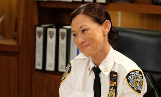 "BROOKLYN NINE-NINE -- ""Captain Kim"" Episode 702 -- Pictured: Nicole Bilderback as Captain Kim -- (Photo by: John P. Fleenor/NBC)"