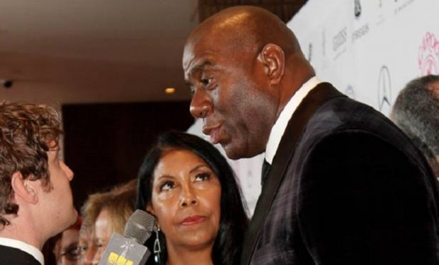 Magic Johnson and wife