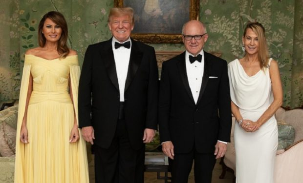 Trump and Woody Johnson
