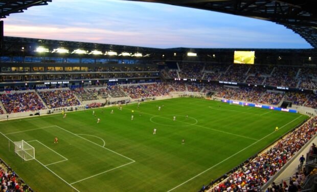 MLS soccer field, Red Bulls