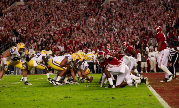 Alabama vs LSU football