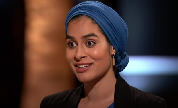 Zahra pitching Monti Kids on Shark Tank (ABC)