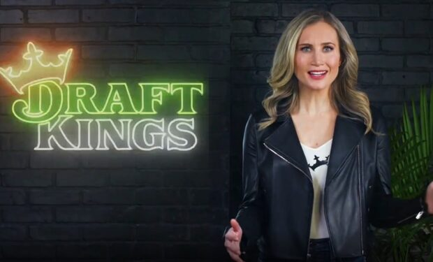 jessie Coffield in Draft Kings super bowl ad