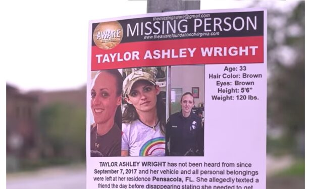 Taylor Wright missing poster on Dateline