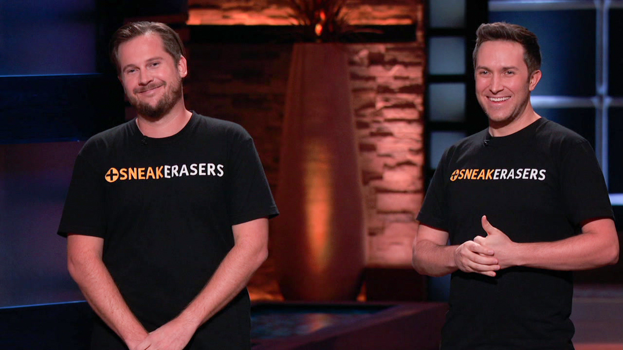 SneakERASERS: Sneaker Cleaner Sponge Pitches A-Rod, Lori Greiner on Shark Tank